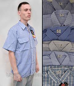 Рубашка мужская летняя с коротким рукавом и в хороших размерах - Жатка