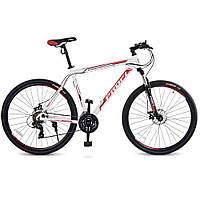 Велосипед 29 дюймов Profi G29BASIS A29-1 алюминиевая рама Бело-красный (012cuh6ec1709)