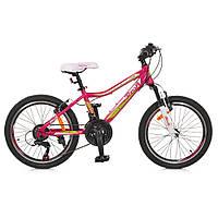 Велосипед 20 дюймов Profi G20CARE A20.1 алюминиевая рама Розовый (012igv35o1710)