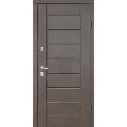"""Входная дверь """"Лагуна ТМ Riccardi"""" 2050x860мм (ПРЕМИУМ) Венге"""