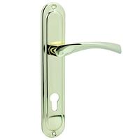 Ручка на планке для входной двери KEDR 85.323 AL (G Золото)