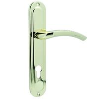 Ручка на планке для входной двери KEDR 85.326 AL (G Золото)