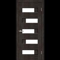 """Межкомнатная дверь ПВХ """"Домино ПО"""" стекло сатин  (8 ЦВЕТОВ)"""