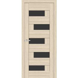 """Межкомнатная дверь ПВХ """"Домино"""" черное стекло  (4 ЦВЕТА)"""