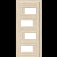 """Межкомнатная дверь ПВХ """"Домино 2"""" стекло сатин (2 ЦВЕТА)"""
