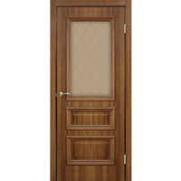 """Межкомнатная дверь ПВХ """"Сан Марко 1.2 СС+КР"""" стекло бронза  (2 ЦВЕТА)"""