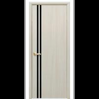 """Межкомнатная дверь ПВХ """"Вита"""" с черным стеклом (1 ЦВЕТ)"""