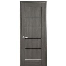"""Межкомнатная дверь ПВХ """"Ностра Мира"""" Черное стекло (5 ЦВЕТОВ)"""