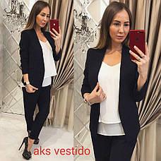 Женский пиджак без застежек  , фото 2