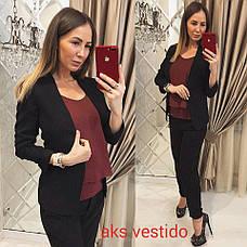 Женский пиджак без застежек  , фото 3