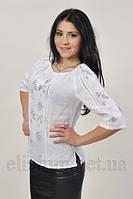 Біла вишиванка Сірі листочки 2013