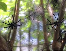 Штучна павутина чорна на Хелловін - розмір упаковки 16*11см