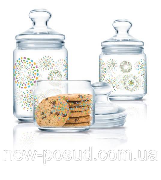 Набор банок для хранения продуктов Luminarc Rainbow Flakes 3 шт (P2318)