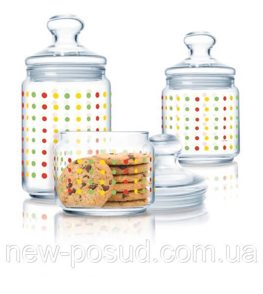 Набор банок для хранения продуктов Luminarc Color Art 3 шт (P2314)