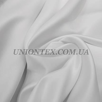 Ткань атлас прокатный белый, Турция, фото 2