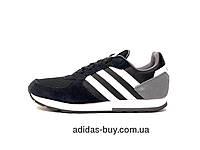 12a7025761f512 Кроссовки оригинал adidas 8K B44650 мужские повседневные из замша цвет:  черный сезон:весна