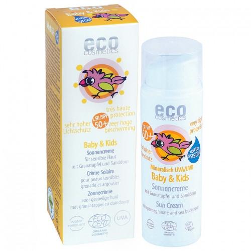 Eco cosmetics Детский солнцезащитный крем SPF 50+  с экстрактом граната и облепихи, 50 мл (Eco Cosmetics)