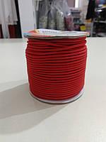 Резинка шляпная 2мм цв S-820 красный (уп 50м) Veritas