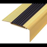 Алюминиевый профиль,порог  арт. 198 54х33 мм золото