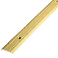 Алюминиевый профиль,порог арт. 203 20х2,7х2700 мм золото