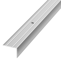 Алюминиевый профиль,порог арт. 324 24х19х1800 мм серебро