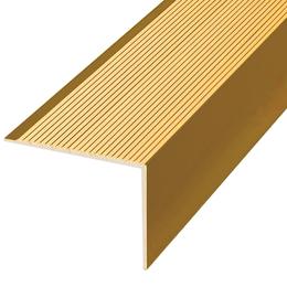 Алюминиевый профиль,порог арт. П19 35х35х1800 мм золото