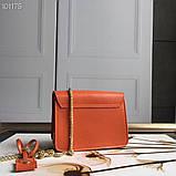 Cумка, клатч Фурла Метрополис натуральная кожа цвет оранж, реплика, фото 2