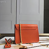 Cумка, клатч Фурла Метрополис натуральная кожа цвет оранж, реплика, фото 3