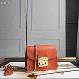 Cумка, клатч Фурла Метрополис натуральная кожа цвет оранж, реплика, фото 5