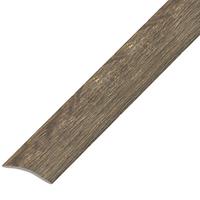 Ламинированный профиль.порог арт.П-4 (202) 20х3 мм дуб капучино