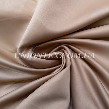 Ткань атлас прокатный бежевый, Турция, фото 2