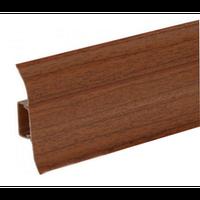 Плинтус напольный Ideal 55mm (орех темный 293)