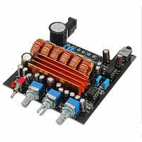 Стерео усилитель звука для автомобиля аудио 18-24В 2*50Вт+100Вт TPA3116, фото 1