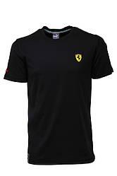 Футболка мужская Пума Ферарри демисезонная черная хлопок 100% (реплика) T-Shirt Puma Ferrari Black