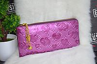 Лакированный клатч-кошелек Louis Vuitton (Луи Виттон) сиреневый, фото 1