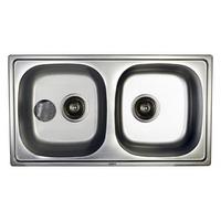 Кухонная мойка Haiba 78*43 double satin