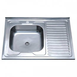 Кухонная мойка накладная ZERIX  Z8060L-04-160E SATIN