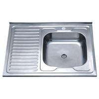 Кухонная мойка накладная ZERIX  Z8060R-04-160E SATIN