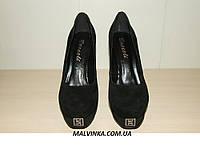 Туфли замшевые женские Турция  BROCOLI 36-39 р  арт 5878