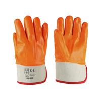 """Перчатки SG - 012 """"Флоуресцентные"""" пвх текстурированные твердый манжет"""