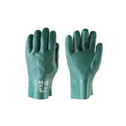 """Перчатки SG - 016 """"КЩС зеленые"""" пвх покрытие (27см)"""