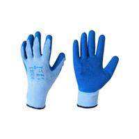 """Перчатки SG - 062 """"Пена ХБ люкс"""" синие трикотажные"""