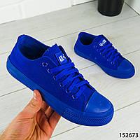 """Кеды женские, синие в стиле """"Converse"""" текстильные, кроссовки женские, мокасины женские, повседневная обувь"""