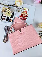 Модная женская сумка LOUIS VUITTON  CAPUCINES 27 см питон (реплика), фото 1