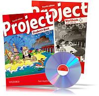 Project 4th edition 2, Student's book + Workbook + CD / Учебник + Тетрадь (комплект с диском) английского языка