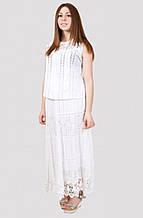 Стильная женская юбка большого размера из натуральной ткани