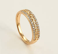 Кольцо XP Спаси и сохрани камни по бокам, размер кольца  16, 17, 18,  20 позолота 18К