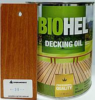 BIOHEL DECKING OIL масло для террас 1 л. №36 - КАШТАН.