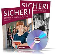 Sicher B2, Kursbuch + Arbeitsbuch + CD / Учебник + Тетрадь (комплект с диском) немецкого языка