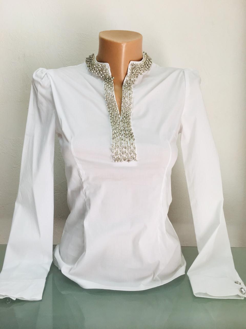 Рубашка женская Бренд Lux копия белая